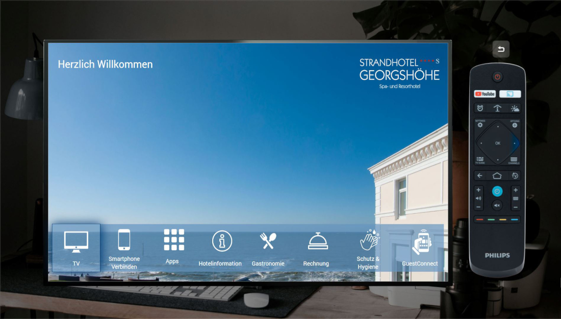 Strandhotel Georgshöhe Spa- und Resorthotel – Hotel-TV: Menü - Hotelinformationen