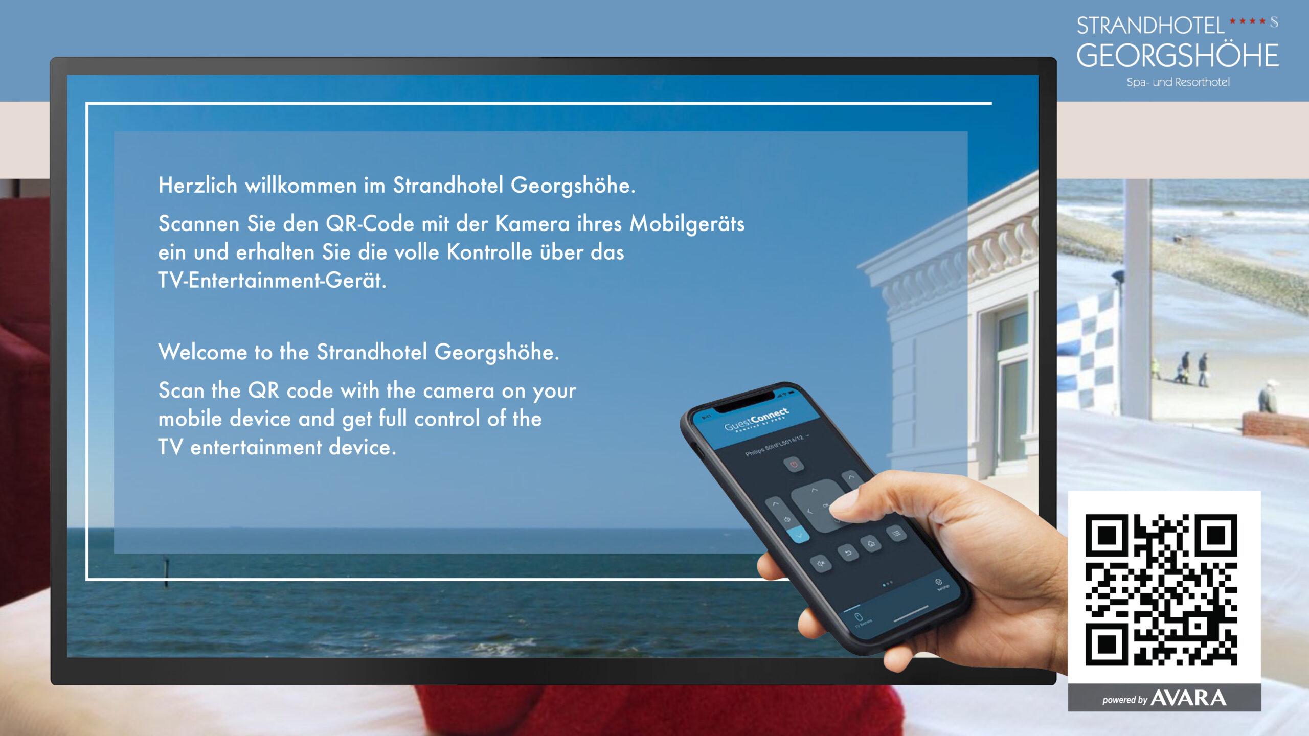 Strandhotel Georgshöhe Spa- und Resorthotel – Hotel-TV: GuestConnect von Philips